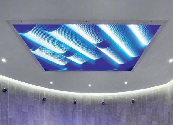 Точечное освещение потолков: фото и идеи размещения светильников   435x600